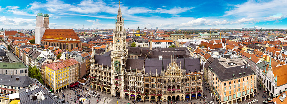 Flights from New York/Newark to Munich  from 372 EUR